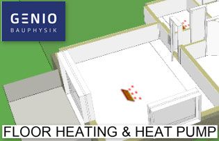 chauffage sol + pompe à chaleur