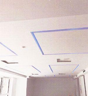 encastrement radiateur plafond