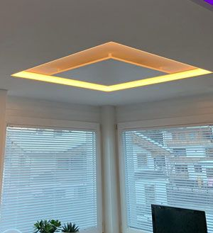 slimline illuminated heater ceiling embedded installation HEAT4ALL