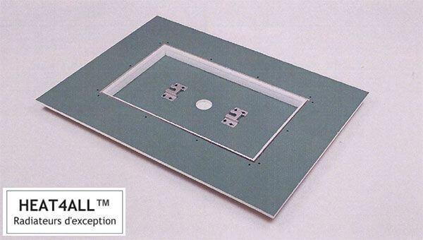 schema technique pose radiateur-lumineux-plafond