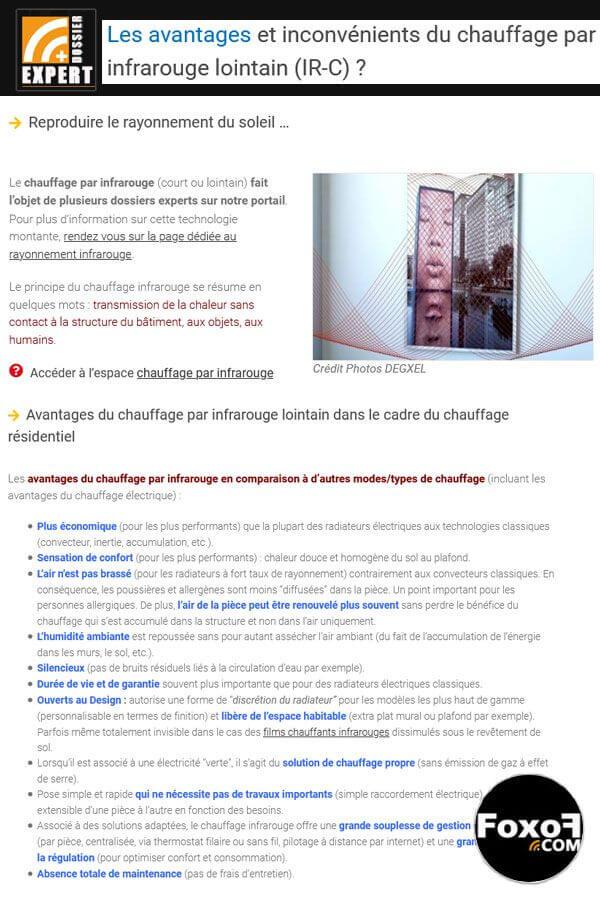 Avantages et Inconvénients du chauffage par rayonnement infrarouge