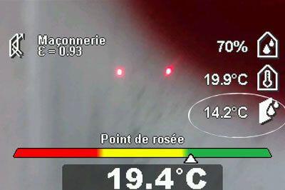 Thermodétecteur et appareil de mesure pour identifier les ponts thermiques