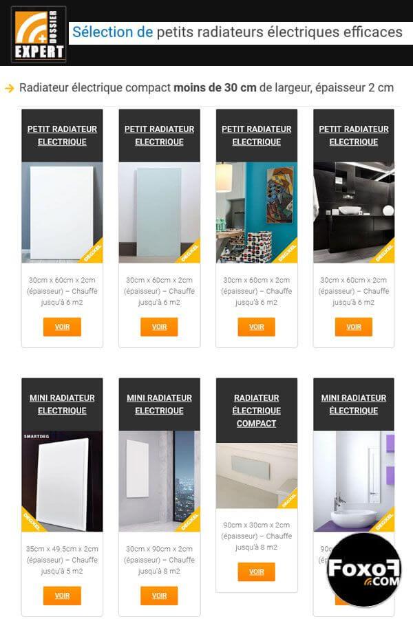 Sélection de petits radiateurs électriques de qualité