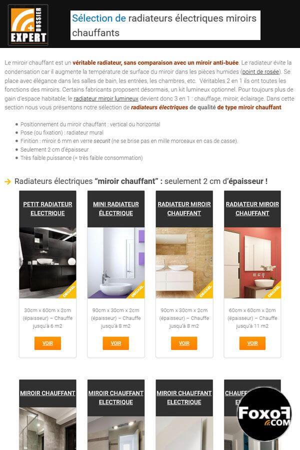 Le radiateur électrique miroir chauffant ou radiateur miroir