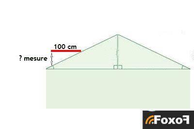 mesure pente toit existante