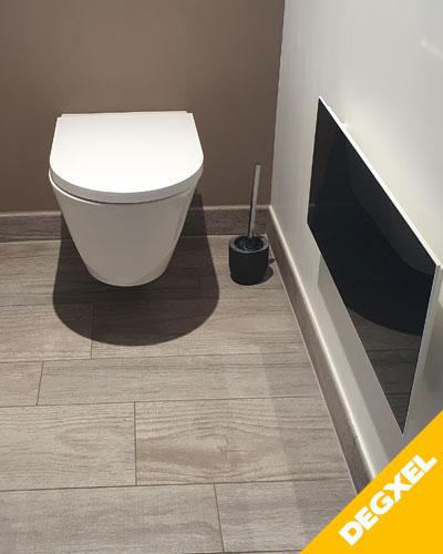 Radiateur verre teinté design WC