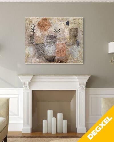 radiateur tableau d'art décor Paul Klee