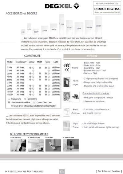 accessoires gamme classique radiateurs degxel