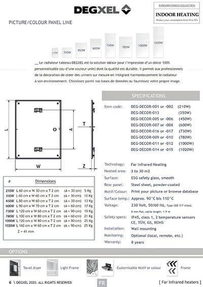 gamme radiateur electrique tableau degxel