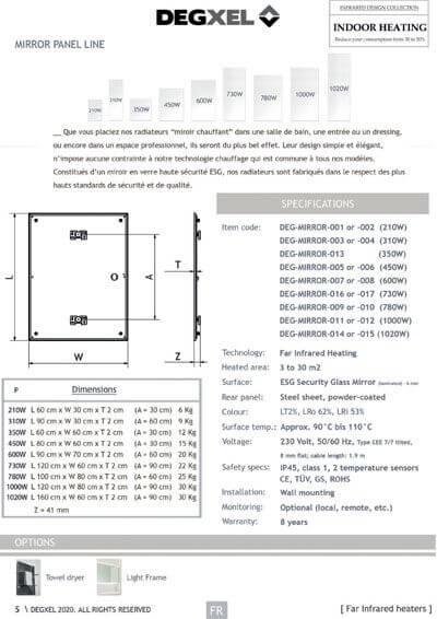 gamme radiateur electrique miroir chauffant degxel