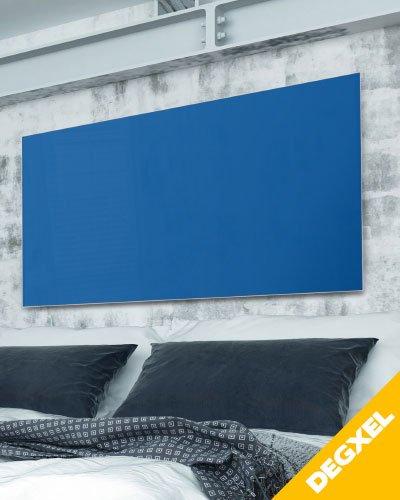 radiateur design verre bleu