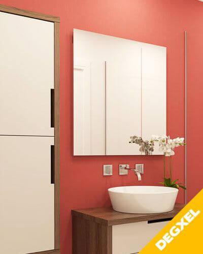 radiateur electrique miroir carre 350W