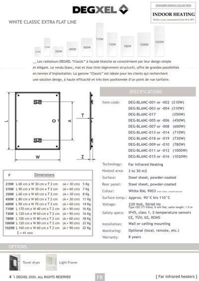 radiateurs electriques DEGXEL gamme-classique