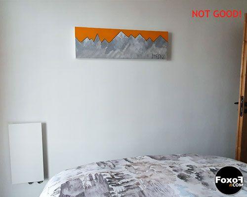 Mauvais emplacement pour radiateur électrique rayonnant
