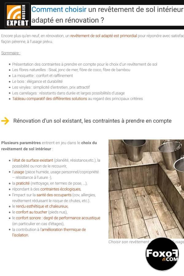 Comment choisir un revêtement de sol adapté en rénovation ?