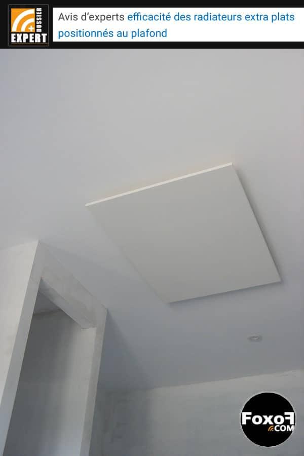 Avis d'experts : efficacité des radiateurs extra plats positionnés au plafond