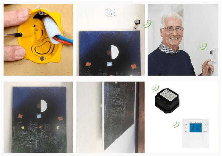 gestion température radiateur infrarouge