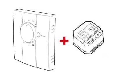 thermostat sans fil à molette