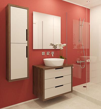 parois volumes salles bain