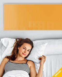 radiateur verre extra plat orange